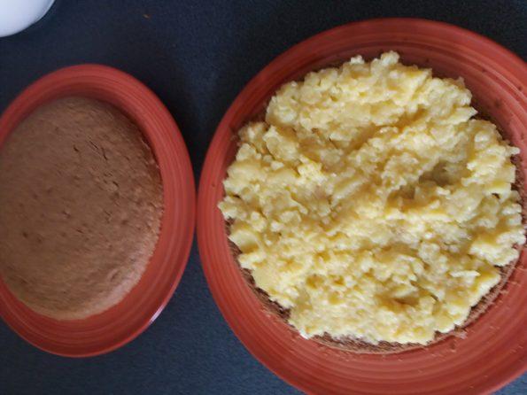 bizcocho sin gluten con crema